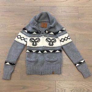 Classic TNA 100% wool cardigan sweater